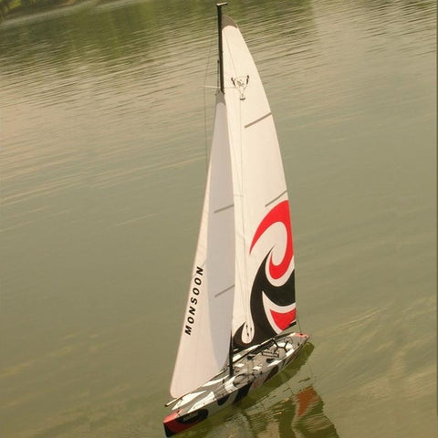 HIGH SPEED LARGE SCALE REMOTE CONTROL  SAIL BOAT FOR CHILD