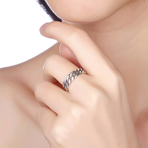 925 Sterling Silver Opening Retro Ring