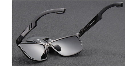 Aluminum magnesium sun glasses driving glasses rectangle shades