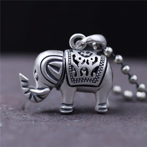 NECKLACES & PENDANTS AUSPICIOUS ELEPHANT REAL PURE 925 STERLING