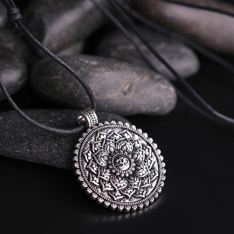 Geometry Women Om Yoga Chakra Pendant Mandala Necklaces