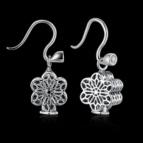 BRAND NEW STERLING SILVER HOLLOW DIAMOND EARRINGS EARRINGS 2018