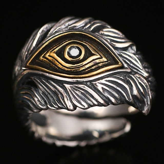 Men's 925 Sterling Silver Third Eye Ring
