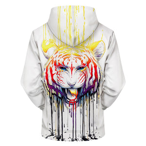 3D Lion Printed Hoodies Color Sweatshirts Fashion Tracksuits Novelty Streetwear