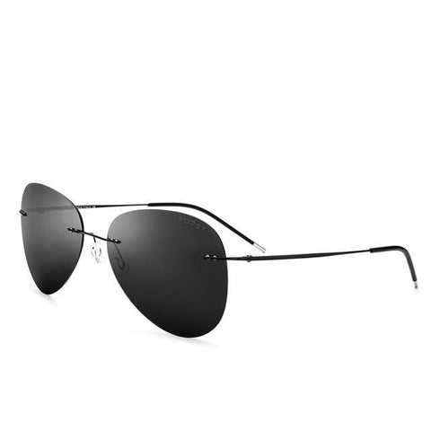 New Light Frameless Aviation Polarized Sun Glasses