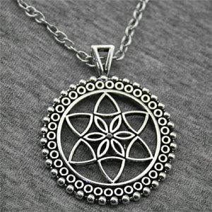 THE FLOWER OF LIFE, THE SEED OF LIFE PENDANT NECKLACE,