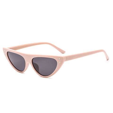 CAT EYE SUNGLASSES FOR WOMEN SMALL DESIGNER SHADE TRIANGLE EYEGLASSES