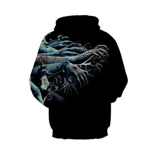 fashion Zombie hand hooded sweatshirts men new hooded hoodies