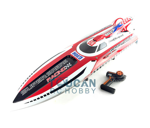 ENGINE GASOLINE FIBER GLASS RC RACING BOAT W/REMOTE CONTROLLER RED