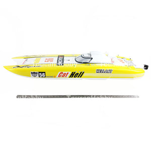 FIBERGLASS GASOLINE RC RACING BOAT  ENGINE RADIOSYS SERVOS YELLOW