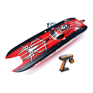 FIBERGLASS GASOLINE RC RACING BOAT ENGINE RADIOSYS SERVOS SPIDER