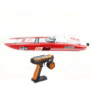 FIBERGLASS GASOLINE RC RACING BOAT  ENGINE RADIOSYS SERVOS RED