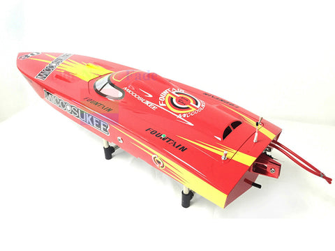 ARTR GASOLINE-CLUTCH ENGINE RC RACING BOAT DEEP-V SHAFT RUDDER
