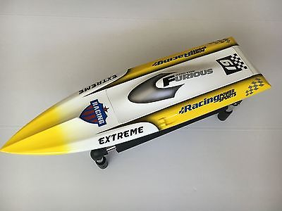 FIBER GLASS ELECTRIC RACING SPEED BOAT DEEP VEE RC BOAT  BRUSHLESS MOTOR