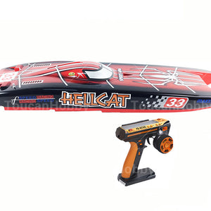 DUAL MOTORS ELECTRIC RC RACING BOAT SPIDER PAINTING