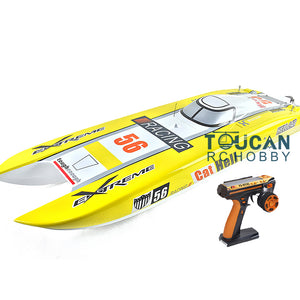 DUAL MOTORS ELECTRIC RC RACING BOAT YELLOW