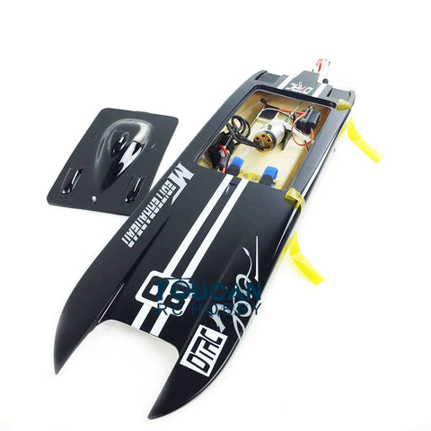 GERMANY CAT FIBER GLASS ELECTRIC RACING SPEED RC BOAT  MOTOR/RADIO SYSTEM-BLACK