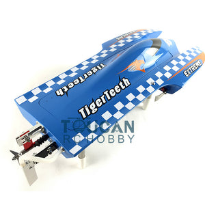 TIGER TEETH FIBER GLASS RACING SPEED BOAT BRUSHLESS MOTOR REMOTE CONTROL RC BOAT