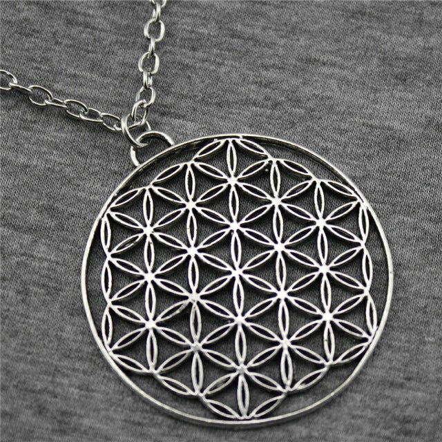 ANTIQUE SILVER COLOR THE FLOWER OF LIFE, THE SEED OF LIFE PENDANT