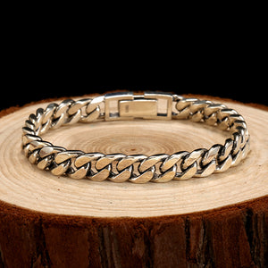 SILVER BRACELET MANS WIDTH LENGTH ROCK FASHION  BRACELETS FOR MAN JEWELRY