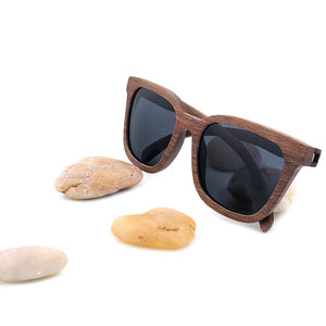 WOODEN POLARIZED SUNGLASSES MENS VINTAGE UV PROTECTION EYEWEAR