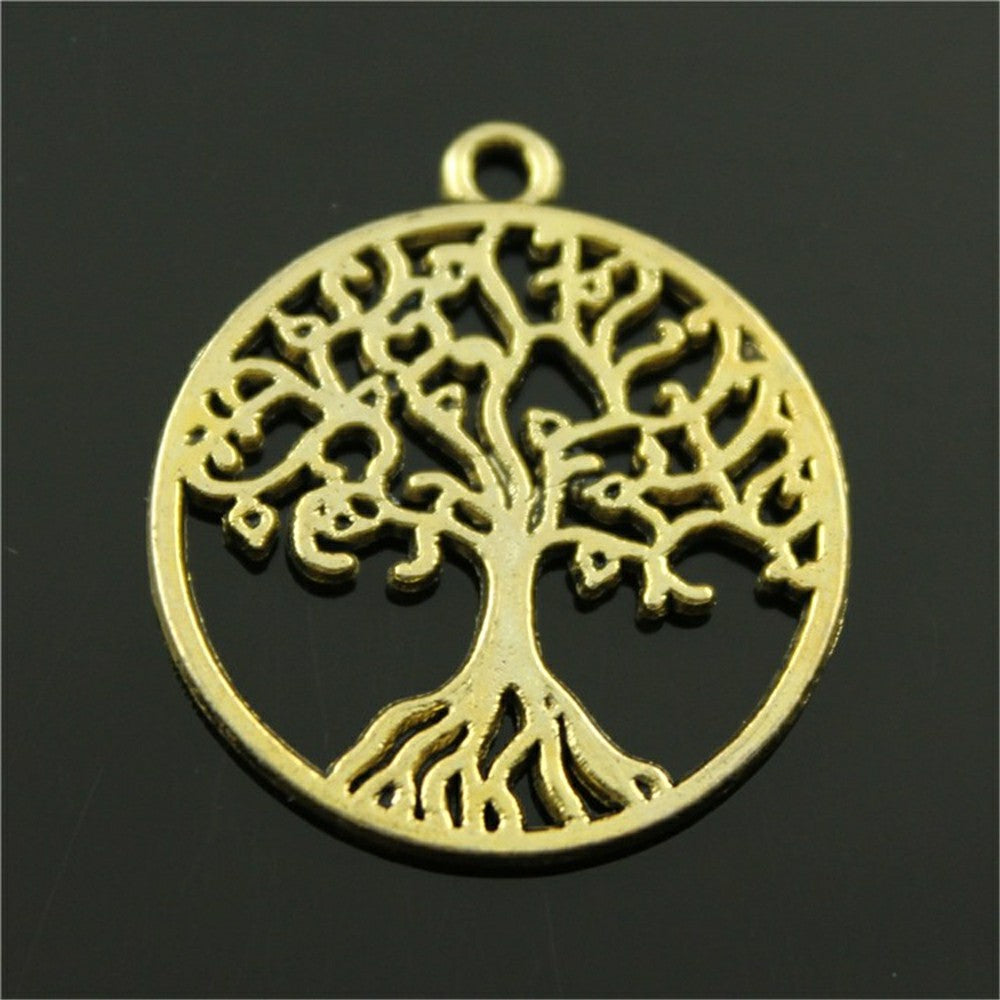 3 COLORS ANTIQUE SILVER, ANTIQUE BRONZE, ANTIQUE GOLD TREE OF LIFE CHARMS