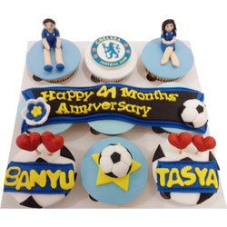 Football Club Anniversary Cupcakes (CCA902)