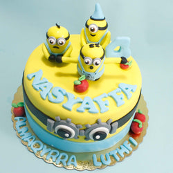 Yellow Minions Birthday Cake (CKCB17)