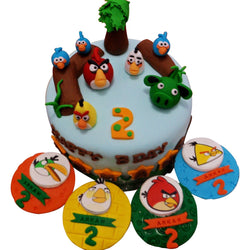 Angry Birds Birthday Cake & Cupcakes Set (CKCB05)