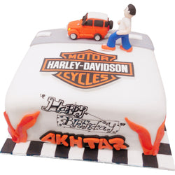 Harley & Jeep Birthday Cake (CKCB08)