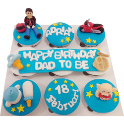 Birthday Cupcakes for Dad to Be (CCB903)