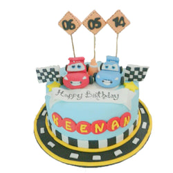 Cheerful Cars Birthday Cakes (CKCB13)