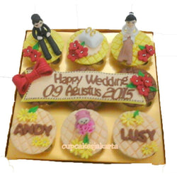 Gold Wedding Hantaran Cupcakes (CCH907)