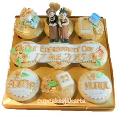 Gold Traditional Hantaran Cupcakes (CCH908)