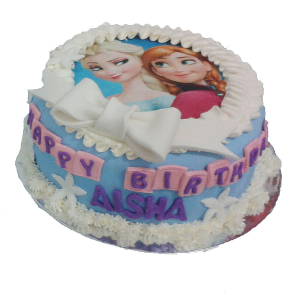 Best Seller: Frozen Ribbon Birthday Cake (CKCB12)