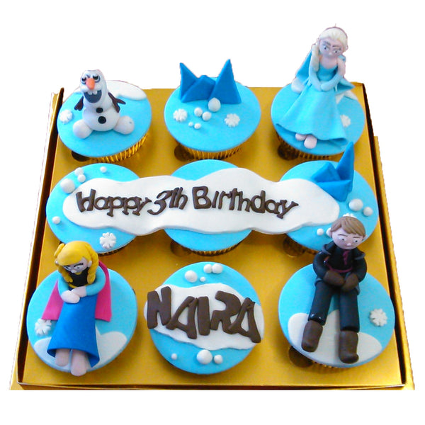 Blue Frozen Birthday Cupcakes (CCB912)