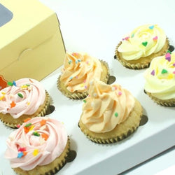 All Classic Cupcakes - Mixed Flavours, 6 pcs (CCCM01)