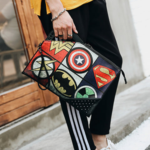 Unisex Superhero Clutch Bag