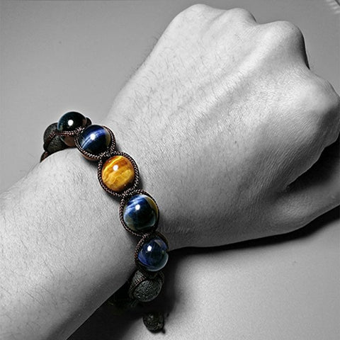 ( Limited 50% OFF ) DevNes Tiger Rock Volcanic Braided Bracelet