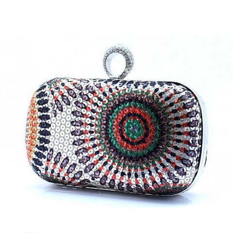 Designer Clutch Knuckle Rings Purse