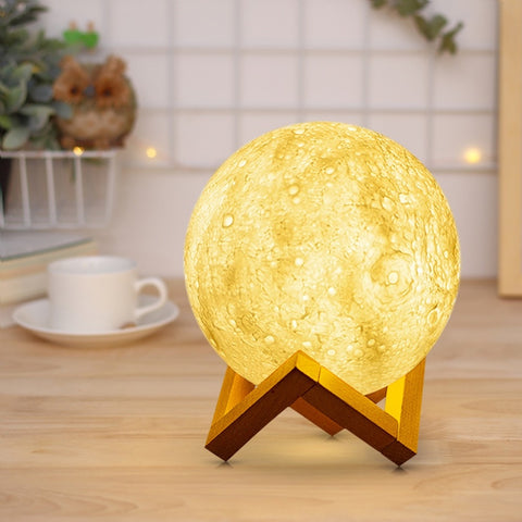 3D Print Moon LED Lamp - Bed / Desk / Decoration / Gift