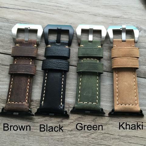 38mm ,42mm leather watch strap For Apple watch - StrapMeister