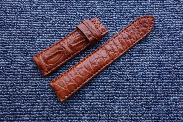 CROCODILE LEATHER WATCH STRAP 22mm - StrapMeister