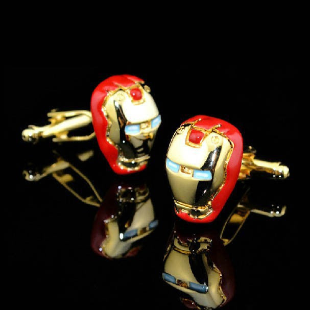 Marvel Iron & War machine cufflinks StrapMeister $20.50
