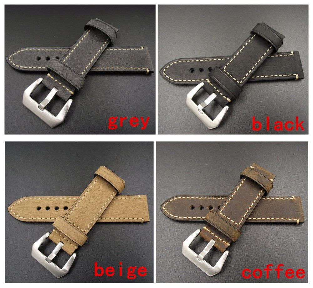 Panerai style vintage strap 20mm to 26mm StrapMeister $21.99