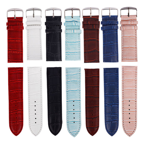 12mm to 26mm High quality PU leather strap-free shipping - StrapMeister
