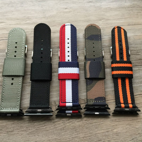 Apple Watch custom strap Nylon for 38MM 42MM size StrapMeister $29.00