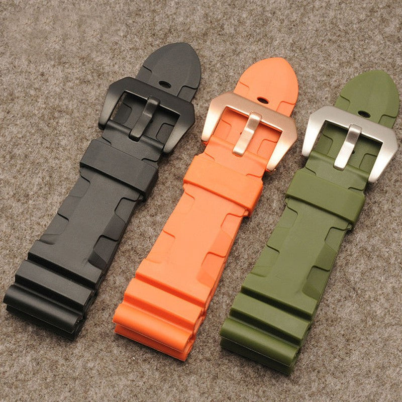 Panerai replacement divers rubber strap-free shipping - StrapMeister