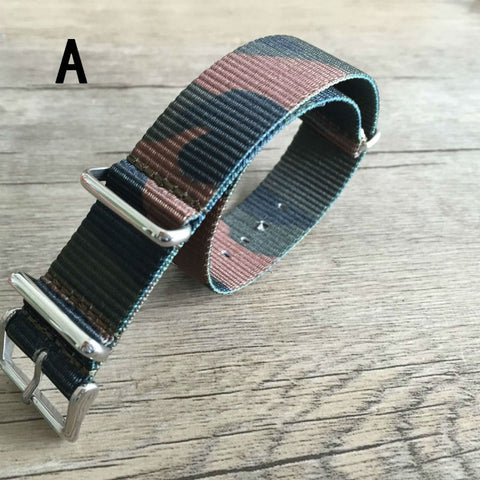 Cheap Best Camouflage NATO Strap 20mm & 22mm-free shipping StrapMeister $16.99
