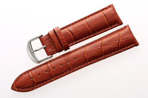 Leather Crocodile Grain Strap-Strapmeister - StrapMeister